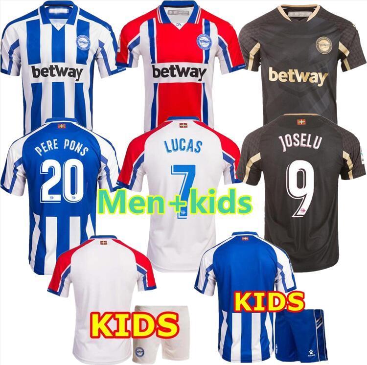 MEN + KIDS 20 21 ألافيس بالقميص لكرة القدم 2020 2021 الافيس 100th المئوية camiseta دي فوتبول PERE PONS لوكاس خوسيلو قمصان كرة القدم