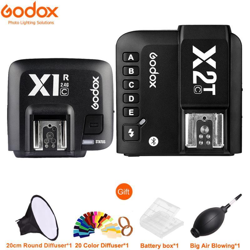 Godox X2 X2T-C X2T-N-S X2T SSS 2.4G sans fil Speedlite Transmetteur de déclenchement avec X1R-C / N / S Récepteur pour