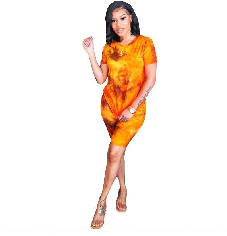 LqRC7 für Frauen-Leopard Lippen abbindgefärbten zweiteilige für Frauen Frauen-Leopard-T-Shirt Drucklippen ZzORs Anzug gebatiktem T-Shirt zweiteiligen Anzug drucken