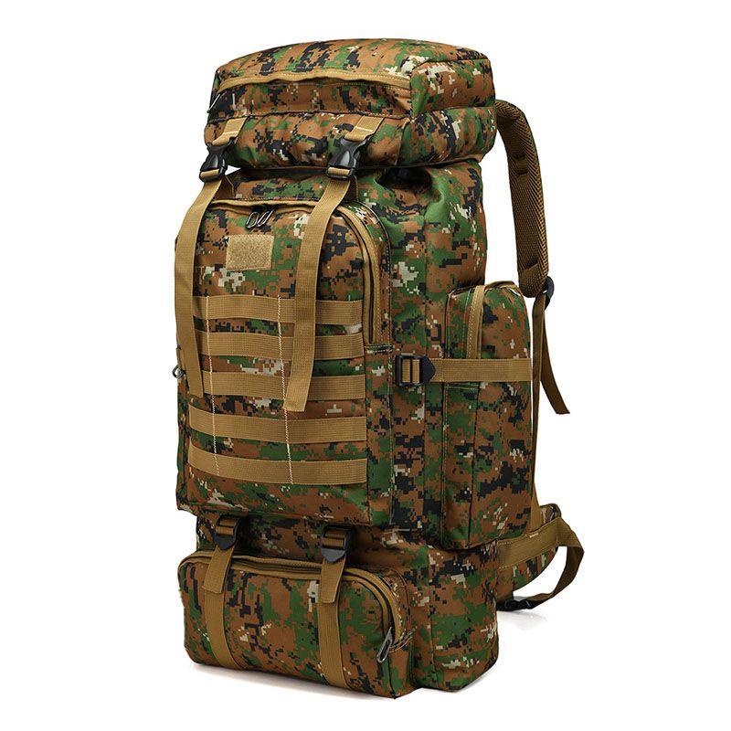 حقيبة حقائب 80L التكتيكي حقيبة الظهر تسلق الجبال العسكرية الرجال السفر الرياضة في الهواء الطلق التخييم، التخييم الصيد الظهر تسلق الجبال