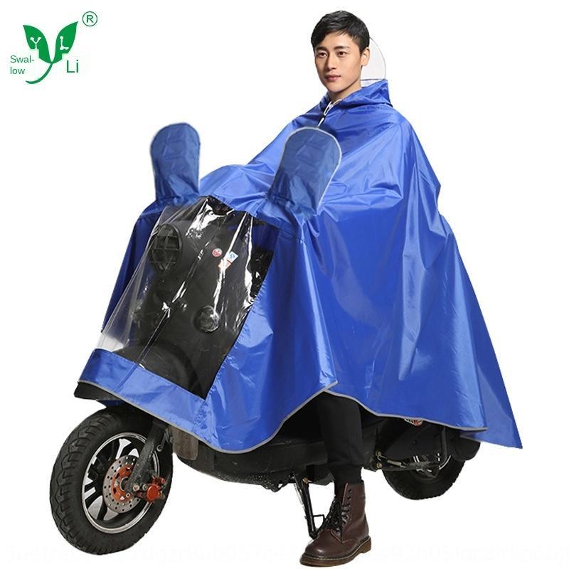 KUDV1 Yanli güvenlik yansıtıcı yağmurluk Oxford elektrik panço büyük brim Cloak motosiklet motosiklet yağmurluk kalınlaşmış