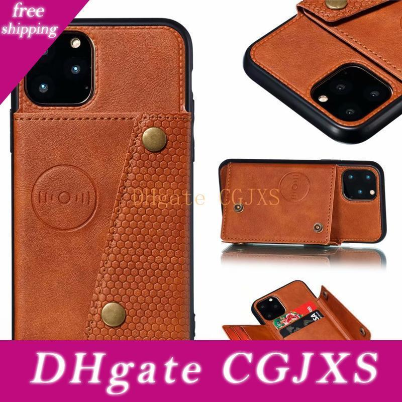 Luxury Wallet Pu Leather Flip Silicone Phone Case For Iphone 11 Pro Max Xs X Xr 7 8 6 6s Plus Card Slot Holder Cover