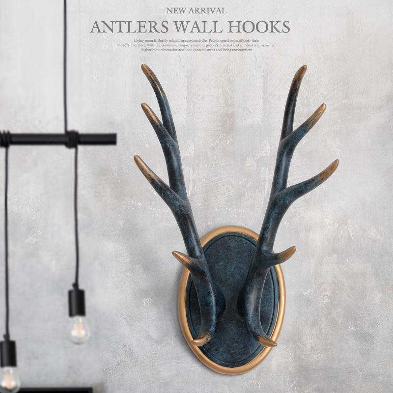 الجدار السنانير لتعليق الملابس المعاطف الجدار مفاتيح STAND HANGER RESIN ANTLERS HOOKS منزل DECORATIONS FOR