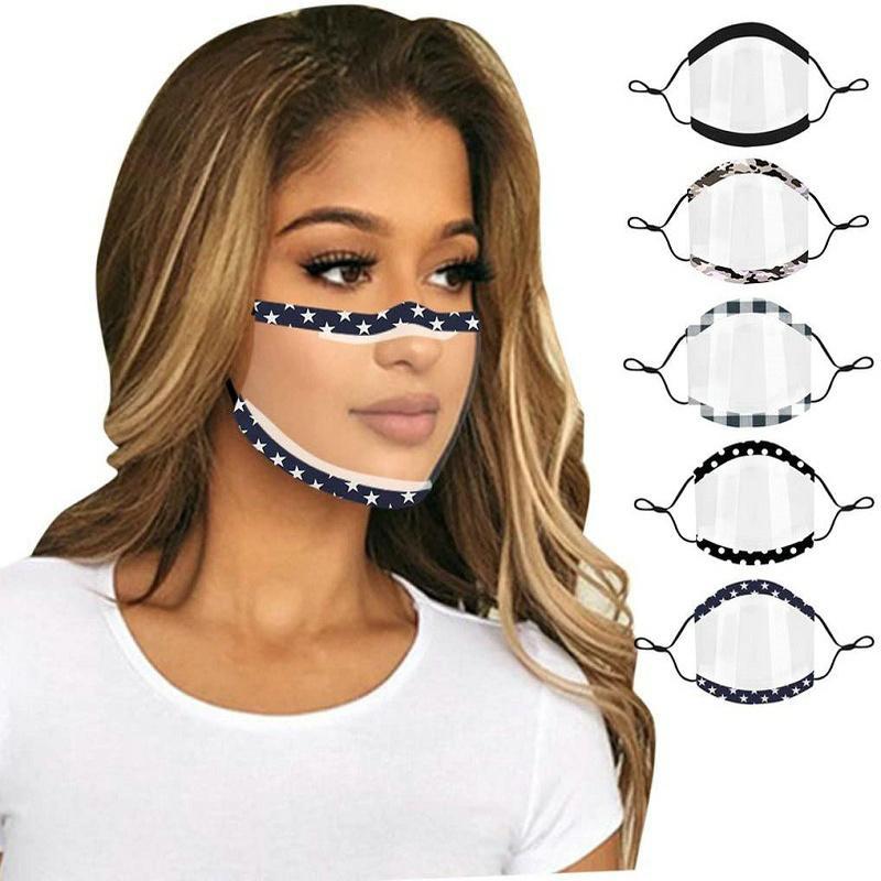 2020 Nuovo chiaro completa Maschera protettiva trasparente e traspirante sordomuto maschera Lip di lingua per adulti donne degli uomini 5 stili maschera trasparente