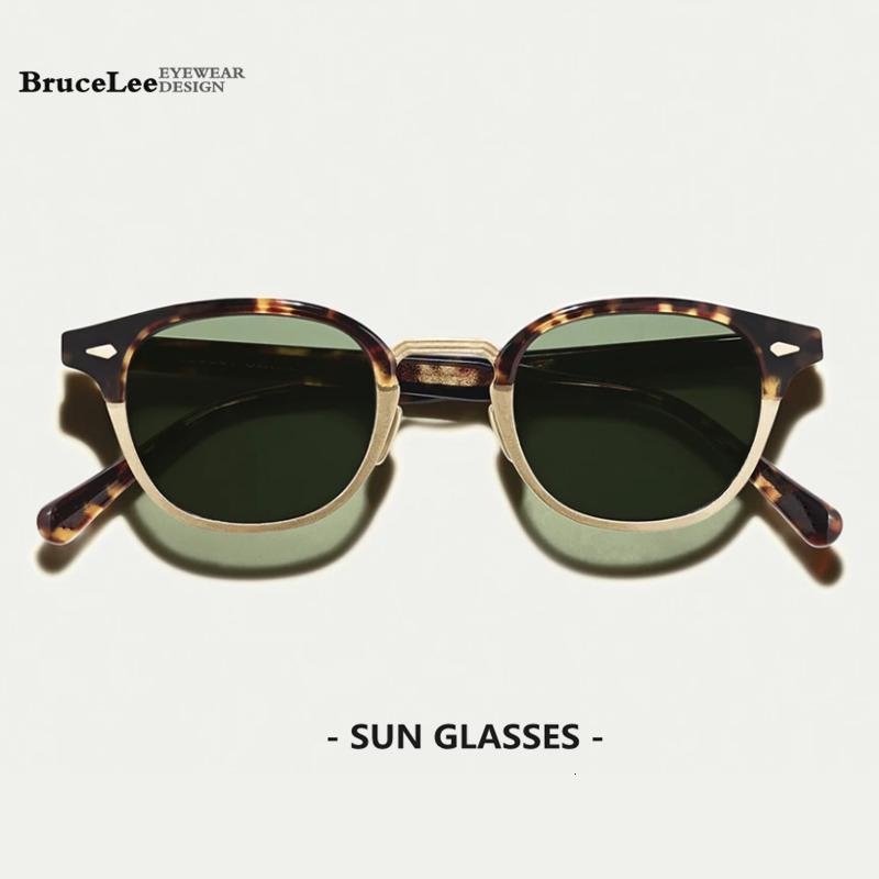 Lunettes de soleil acétate Hommes 2020 polarisants Nouveau Femmes Marque Designer Sunglass Rétro rondes Lunettes de soleil pour hommes Protection des yeux