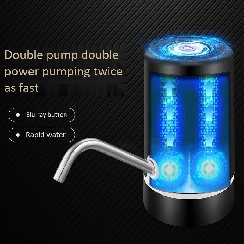 USB di ricarica rapida doppio motore elettrico automatico bottiglia Acqua potabile dell'erogatore della pompa di carica doppia pompa Barrel