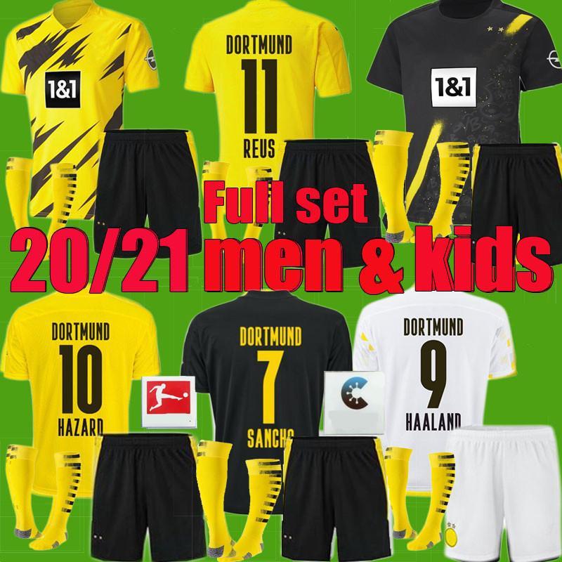 2020 Borussia 2020 2021 Adult Men Kids Dortmund Haaland Soccer Jerseys Kit 20 21 Hazard Gotze Reus Witsel Paco Alcacer Third Set Football Shirt From Xinying131129 12 67 Dhgate Com