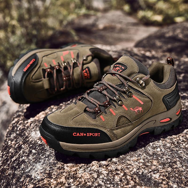 Tasarımcı Yeni Sonbahar Erkek Yürüyüş Ayakkabı Süet Deri Erkek Trekking Sneakers Su geçirmez Dayanıklı Kaymaz Açık Tırmanma Kamp Sporları