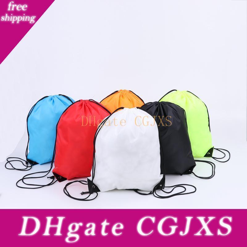 15 Farben-34 * 43cm Polyester-Faser-Taschen wasserdichte Rucksack-Folding-Beutel-Marketing-Promotion Kordelzug Schultertasche Speicher-Beutel