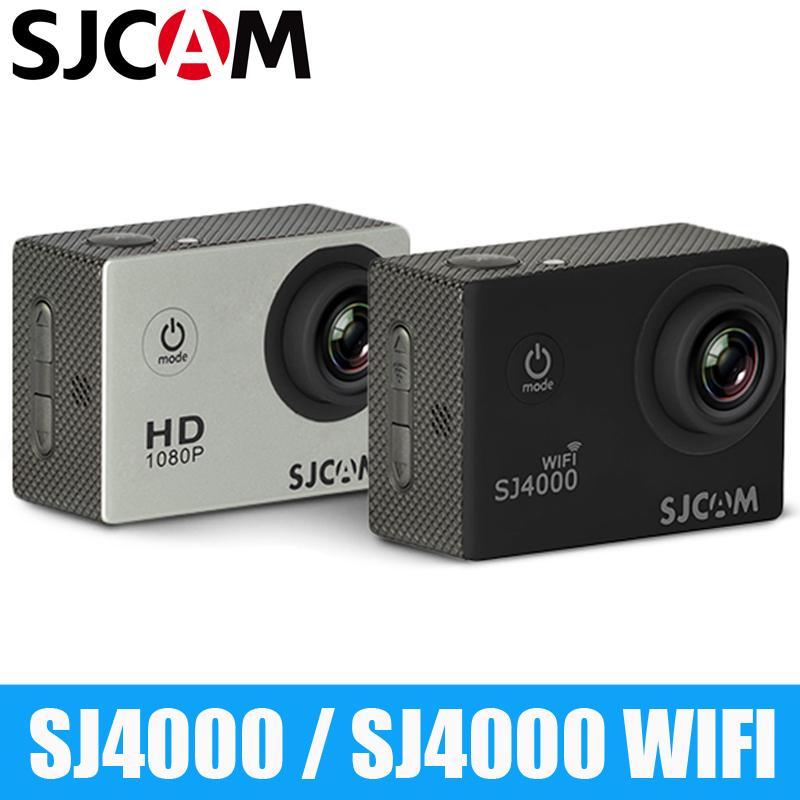 الأصل SJCAM SJ4000 سلسلة 1080P HD 2.0 SJ4000 / WIFI عمل كاميرا الخوذة كاميرا مضادة للماء الرياضة DV السيارات المسجل