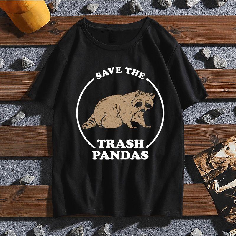 Erkekler Ve Kadınlar İçin Kaydet Çöp Pandalar En Yeni Tişört Yaz Harajuku Komik T Gömlek Kısa Kollu Komik Tişörtler Moda Tişört