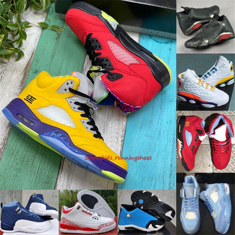Jumpman 3 4 5 6 7 12 13 14 Los hombres zapatos de baloncesto de la Universidad Concord oscuro Azul Indigo juegos Varsity Royal Court púrpura zapatillas de deporte
