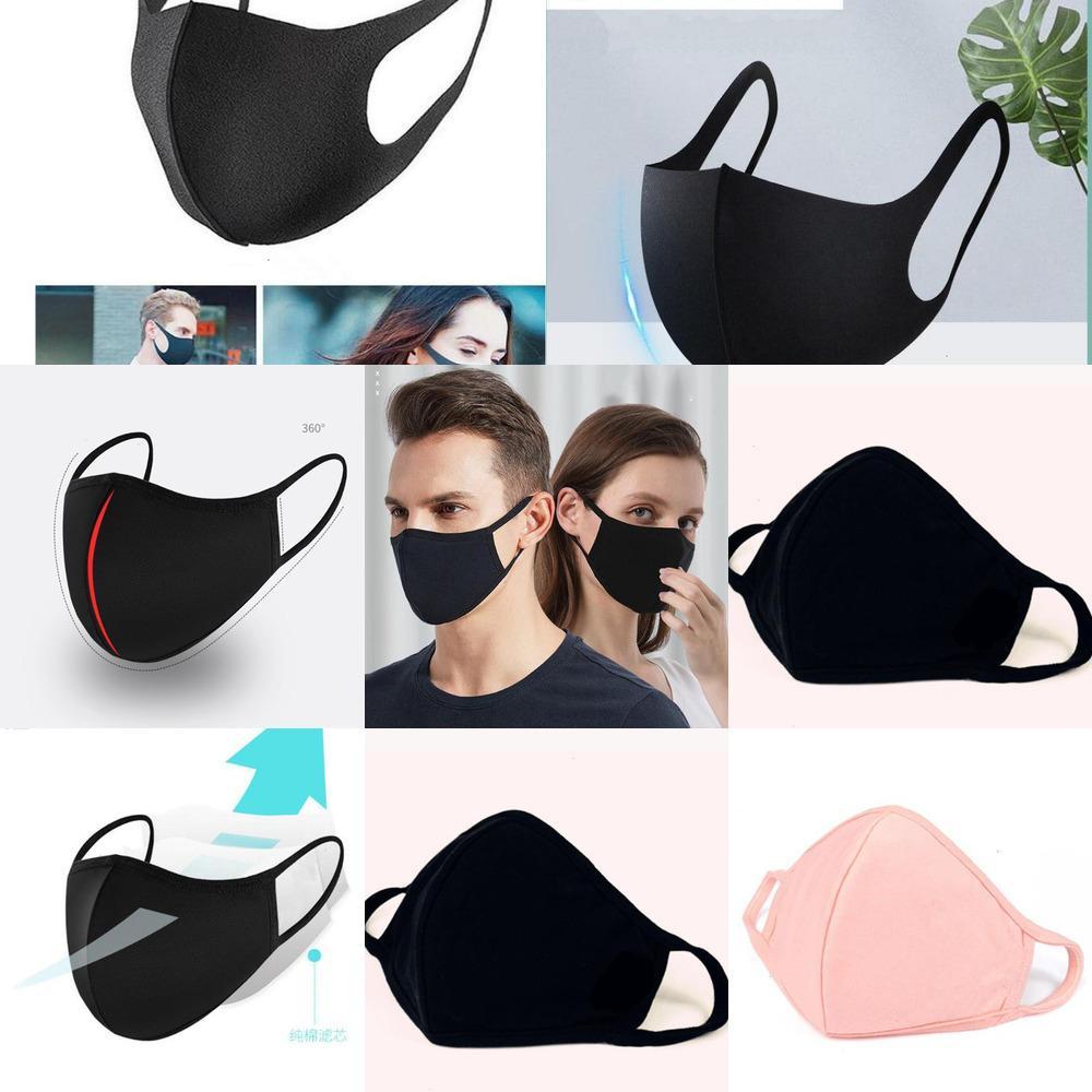 РМ2,5 Labs Дыхательные белые маски Organic с Face 95% хлопок Многоразовые защиты от пыли Пыльца перхоть U0X9