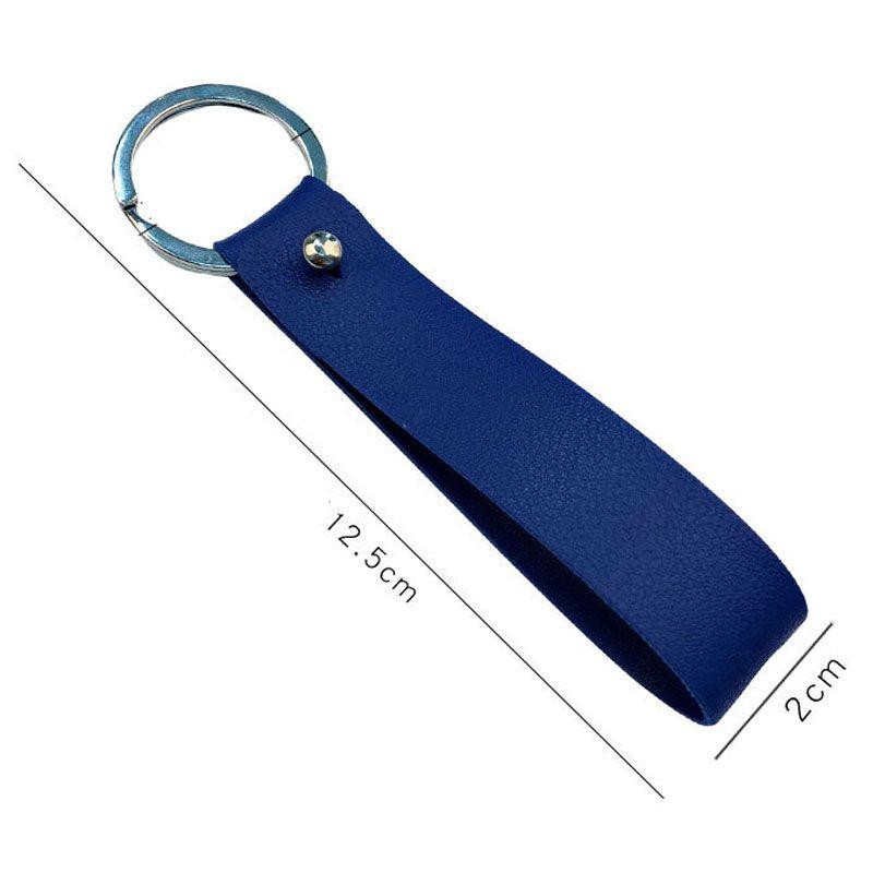 Regalos de promoción creativa Versátil PU ancho de cuero de cuero cuerda cadena dominante del coche de llamada personalizada cintura colgante llavero