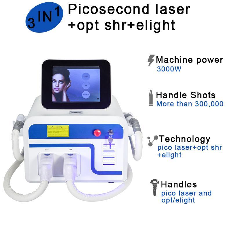 pico système elight machine ipl cheveux traitement de l'acné visage laser Soins de la peau Pico laser q switched
