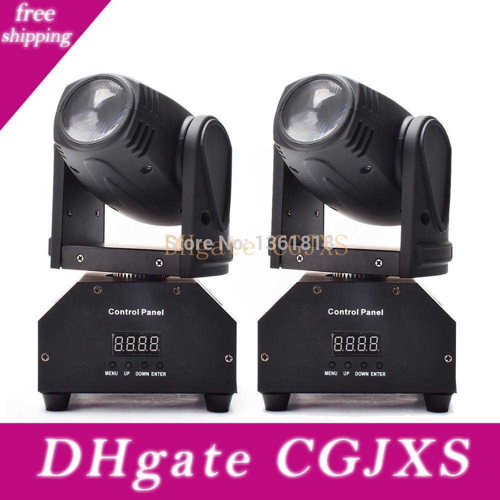 (2 pedazos / porción) de la viga principal móvil del LED 10w Rgbw 4en1 Led DMX haz Movng Cabeza del punto de luz para equipos de DJ