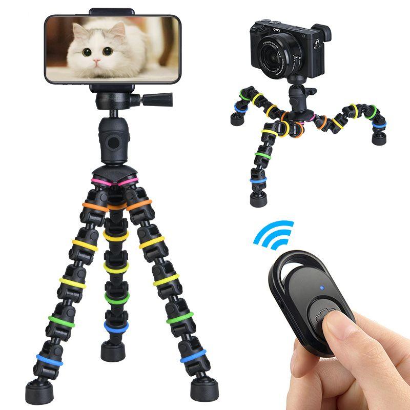 Treppiedi Polpo Stand flessibile del treppiede flessibile con clip da montaggio del supporto del telefono, mini remoto remoto regolabile per telefono / camera / go pro