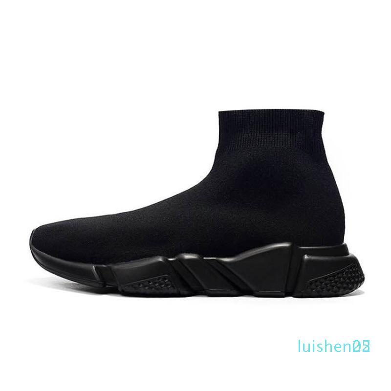 Designer-Schuhe Speed-Socken-Turnschuhe Stretch Mesh High Top für Frauen der Männer schwarz weiß rot Glitter Runner Flach Trainer Eur 36-45 1 l25