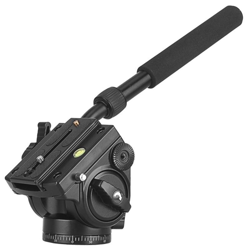 Camera Tripod Head 18Kg Load Fluid Head Aluminum Swivel Panhead Video Dslr Digital Camera Professional Tripod Handle Pan