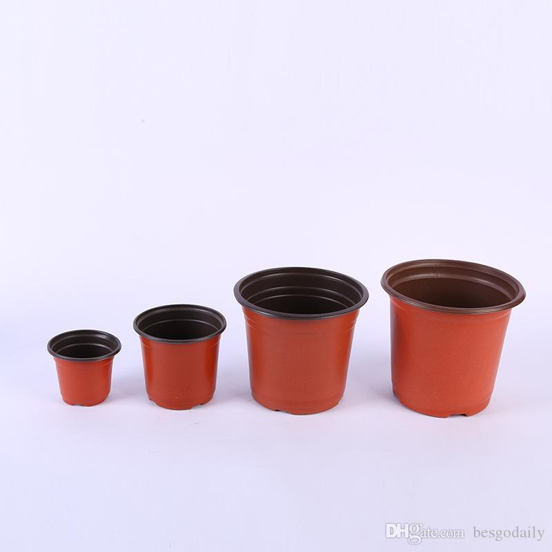 Çok Boyutlu Çift Renkli Saksılar Plastik Kırmızı Siyah Kreş Nakli Havzası Kırılmaz Saksı Ev Topakları Bahçe Malzemeleri BH3637 BC