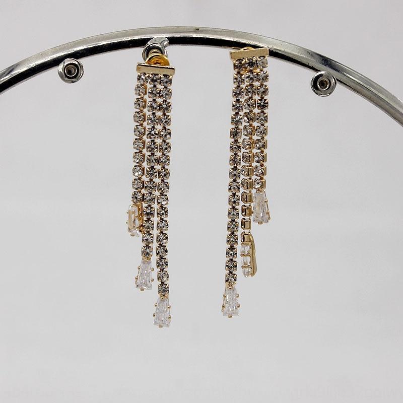 925 aguja de plata diamante Súper Rhinestone del diamante del flash de circón borla pendientes de diamantes de imitación de la personalidad de la manera dulce women'searrings Flash 4