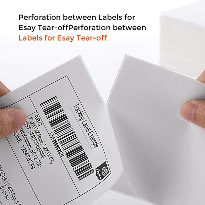500pcs / Papel Stiker Bag 4 polegadas Etiqueta térmica Papel de etiqueta 100 * 150 milímetros para impressora de mesa envio Lables ITPP221