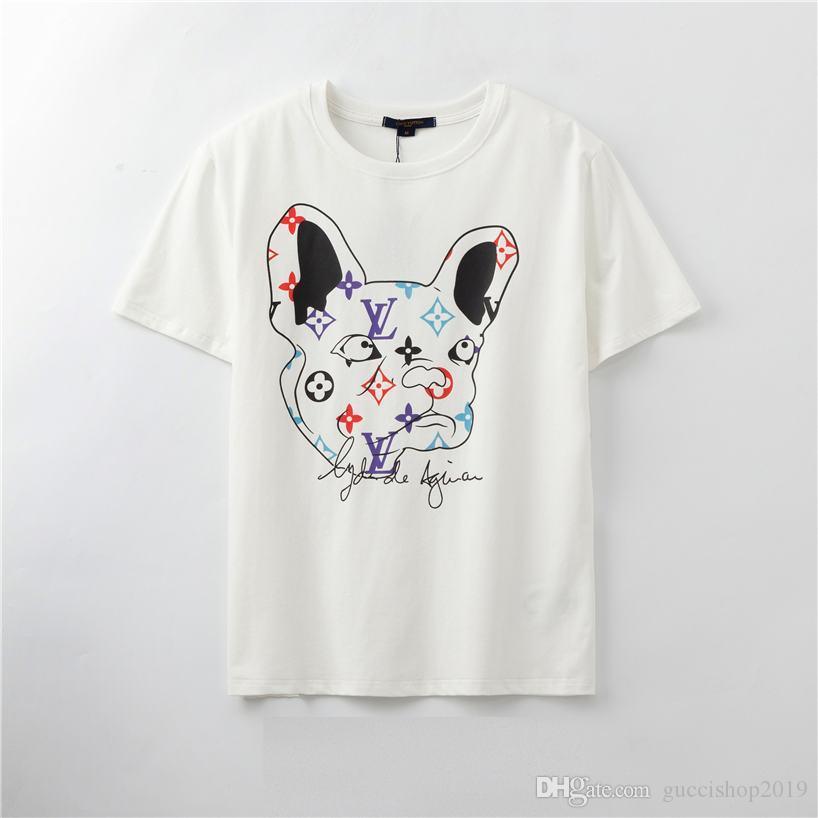 Cotton Verão do estilista camisetas para homens Tops Carta Imprimir T Shirt Mens Mulheres Roupa Manga Curta T-shirt Men Tees Black White
