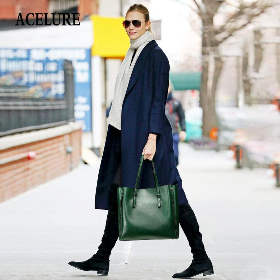 Femmes célèbres Sac à main, grande capacité Sac à bandoulière PU Casual en cuir Sac à main solide simple style sac à main