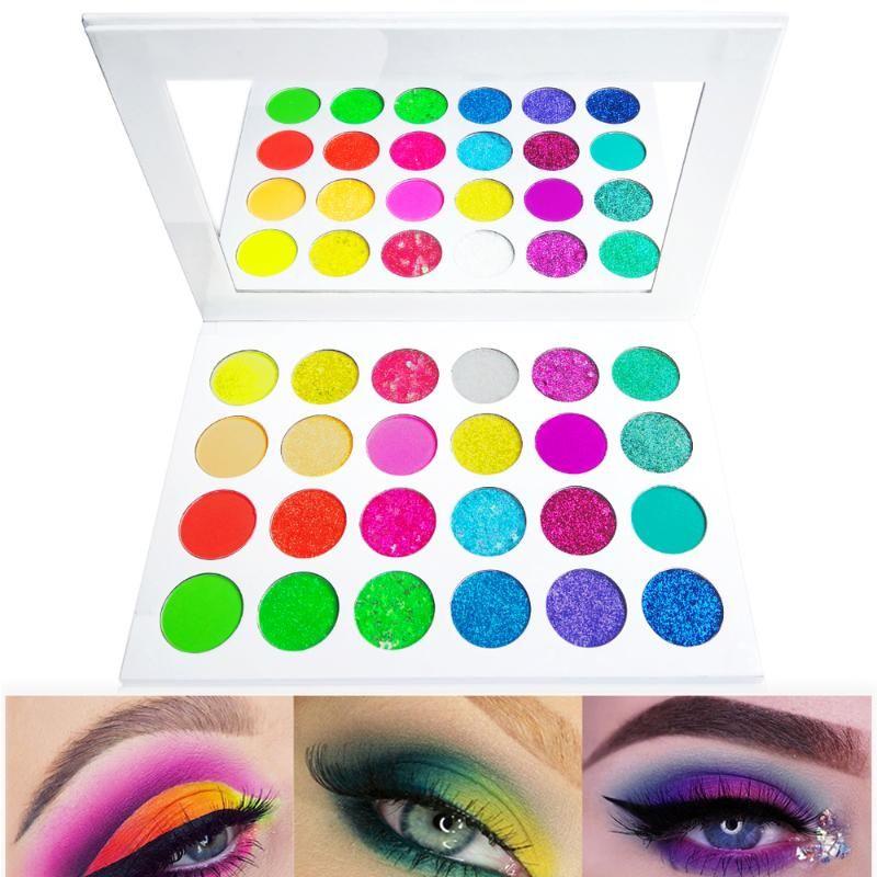 Красочные Пигментные Eyeshadow Pallete Матовый макияж Shimmer Блеск Radiant Professional Eye Shadow Palette порошок косметический набор
