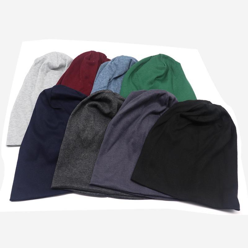 العلامة التجارية المرأة القطن قبعة قبعة الخريف لون الصلبة مترهل بيني قبعات للمرأة 8 ألوان SkulliesBeanies بونيه كاب لفام