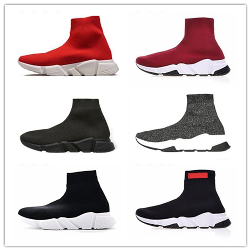 Balenciaga Shoes la plataforma de los zapatos ocasionales de Triple beige negro blanco rojo del bule de neón mujer plano tamaño al aire libre 36-45 de moda deportiva
