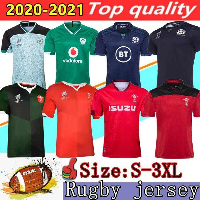 2020 de rugby de Gales Rojo Verde jerseys 19 20 copa del mundo camisa de los hombres de rugby de Escocia Irlanda 2021 superior tamaño de las camisas de rugby de calidad: S-3XL
