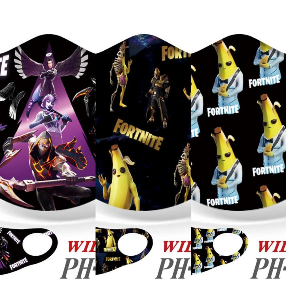 RJ5V Maschera cotone SNJ8 Fronte di modo riutilizzabili maschere Skull Flag Digital Sport Cosplay Halloween maschera antipolvere antivento maschera facciale # 207