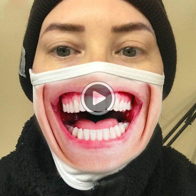 Drôle 3D Expression Fa Masque anti-poussière Masques de coton Impression Fasion Wasale Cycling Mask Dener Fa Prentice
