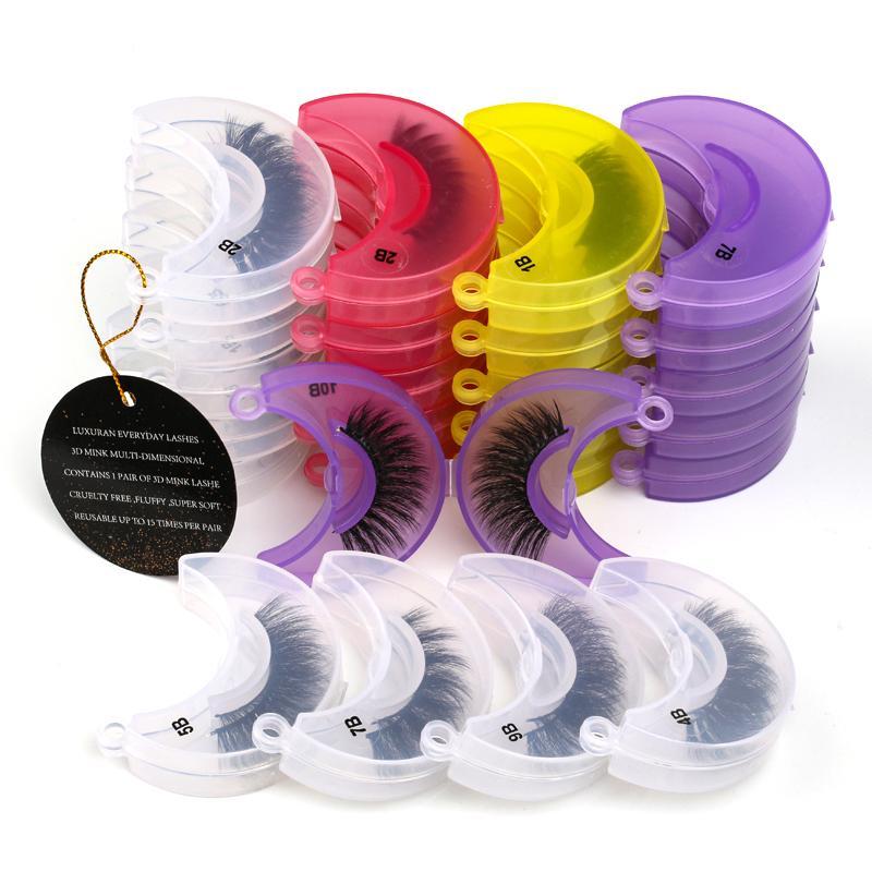 Luxury- Pestañas 20/30/40/50/100 pares pestañas de visón natural al por mayor las pestañas falsas del maquillaje 3D de visón latigazos a granel grueso Faux cilios