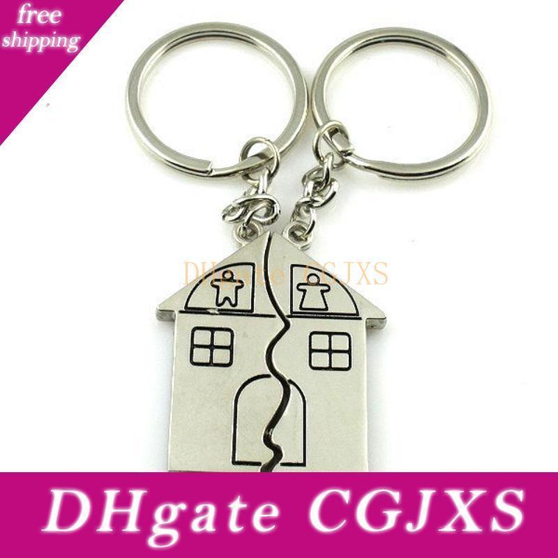 Favors Casal nova liga de zinco House Party Wedding Keychain personalizado e presentes barato Giveaway para os hóspedes W9487