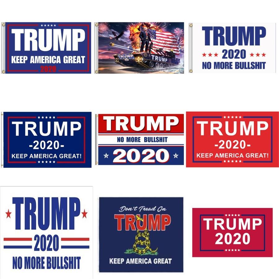 Trump Keep America Great Banners 90 * 150cm 8 couleurs Décor bannière Trump Drapeau Hanging 3X5Ft numérique Imprimer Donald Trump 2020 Drapeau Bh2022 Tqq # 679