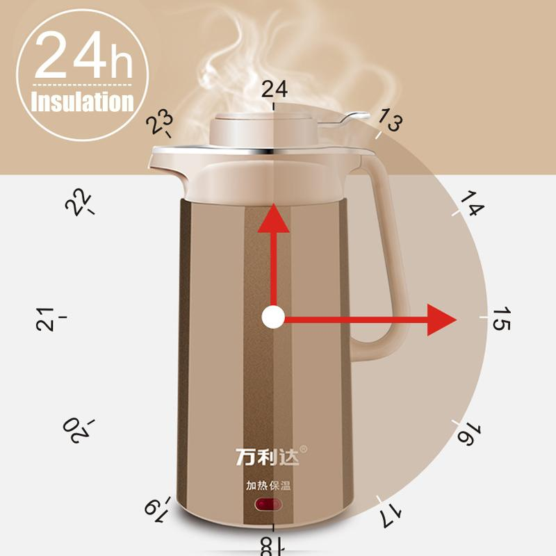 2.5L مكافحة السمط المياه غلاية كهربائية السيارات وانقطاع التيار الكهربائي لحظة حماية يده التدفئة غلاية كهربائية مع قفل السلامة