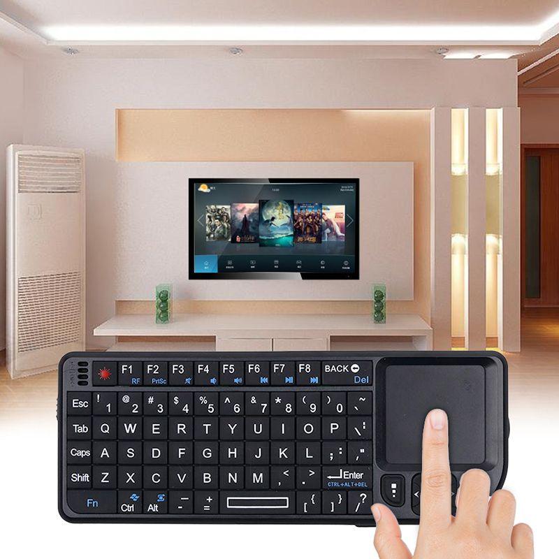 Backlight Mini sem fio Teclados Air Mouse 2.4G Handheld Touchpad Para Gaming telefone caixa de tv inteligente android 2.4G Bluetooth para
