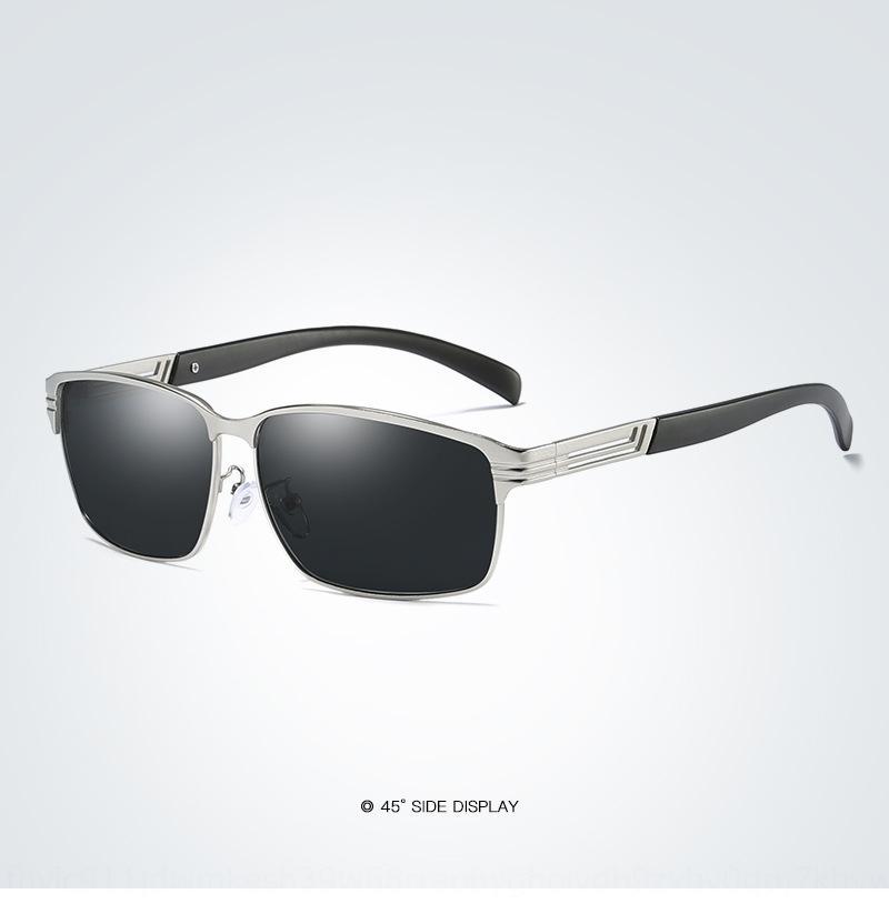 soleil polarisée hommes intérieur lunettes de soleil bleu volant Film série 004 carrés lunettes de soleil