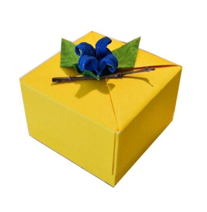 DIY Schöne Folding Geburtstag Hochzeit Bevorzugungs-Süßigkeit-Geschenk-Kasten-Gewohnheit druckte Band Geschenk Verpackung Babyparty Papier-Süßigkeit-Kasten-Geschenk-Verpackung