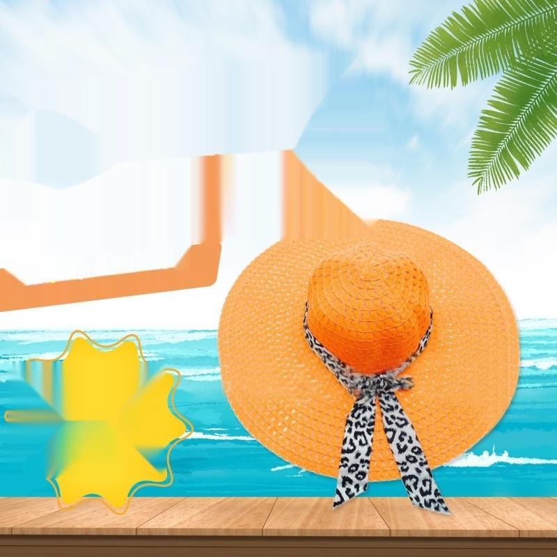 estilo de sombrero de playa sombrero del sol del recorrido de la mariposa de paja del sol del bowknot de las mujeres de Corea lNAgm