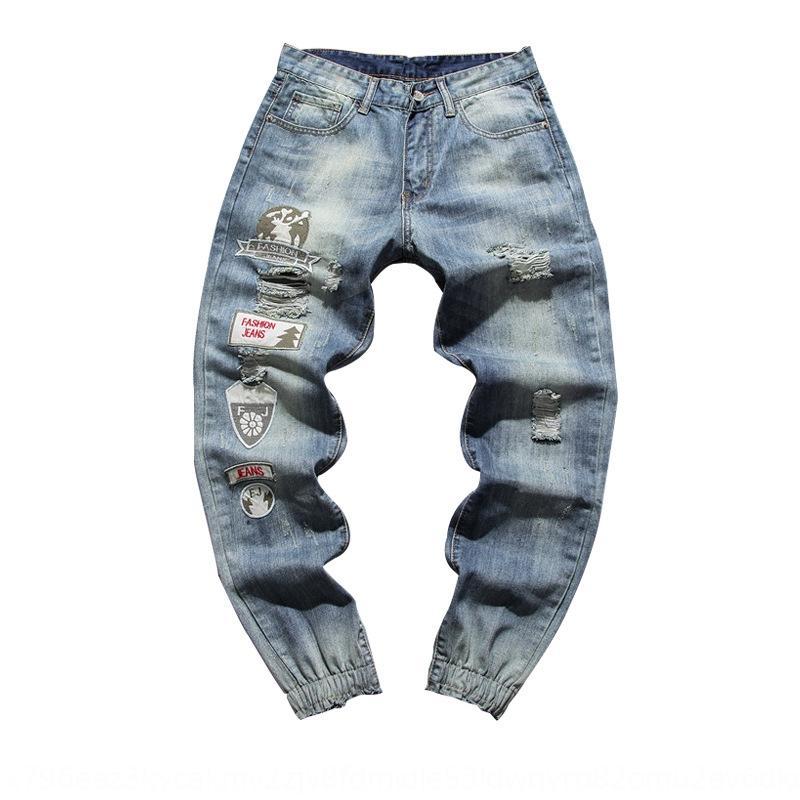pantolon erkek ince ayak bileği uzunlukta pantolon rahat dilenci CDfr1 Perth Koreli erkek ve pantolon ve kot büyük boy kot 20 sonbahar gençlik deliği