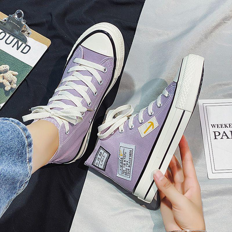 Chaussures femme 2020 nouvelles chaussures de toile d'été perméable à l'air amoureux des hommes pantoufle de haut-top et tendance version coréenne des femmes