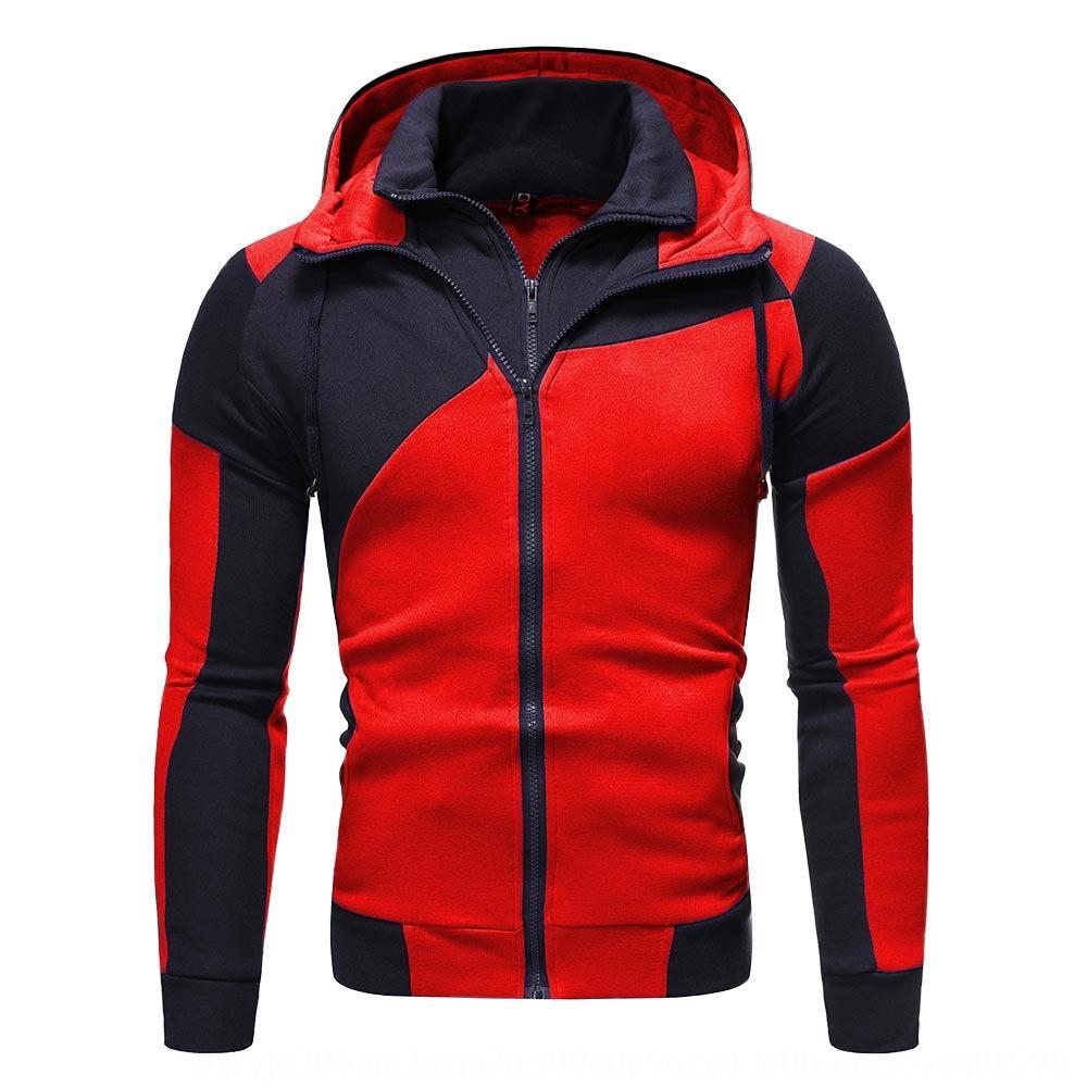 personalizado costura dos homens magros de camada dupla personalizado costura dupla-camada do Hoodie Hoodie com zíper camisola zipper homens magros camisola W