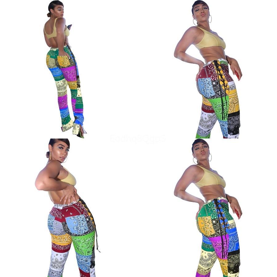 Leggings Body bella rappezzatura di modo Paisley cinghietti Split pantaloni colorati Strass Fishnet modello vuoto Sexy Leggings Slim Love # 435