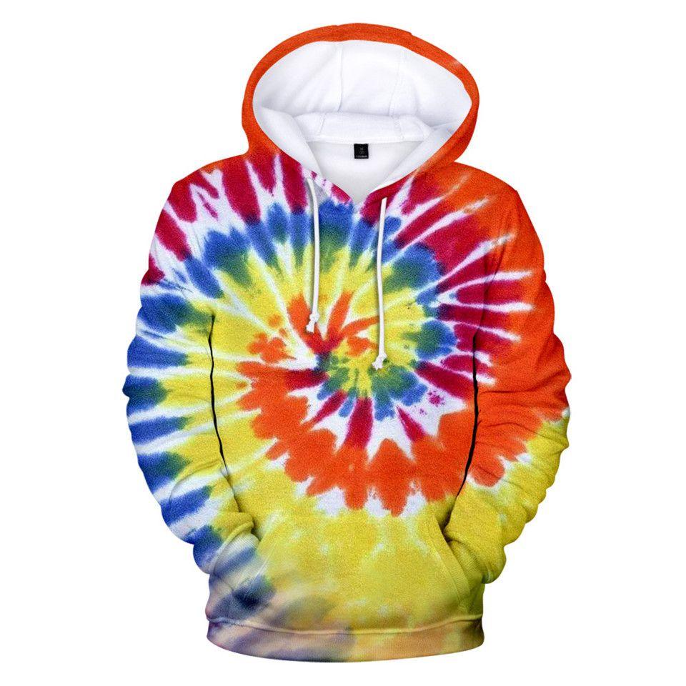 3D Tie Dye Flashbacks Hoodie Women Men Colorful Psychedelic Hoodies Sweatshirt Fashion Harajuku Coat and Jacket Brand Clothes MX200808