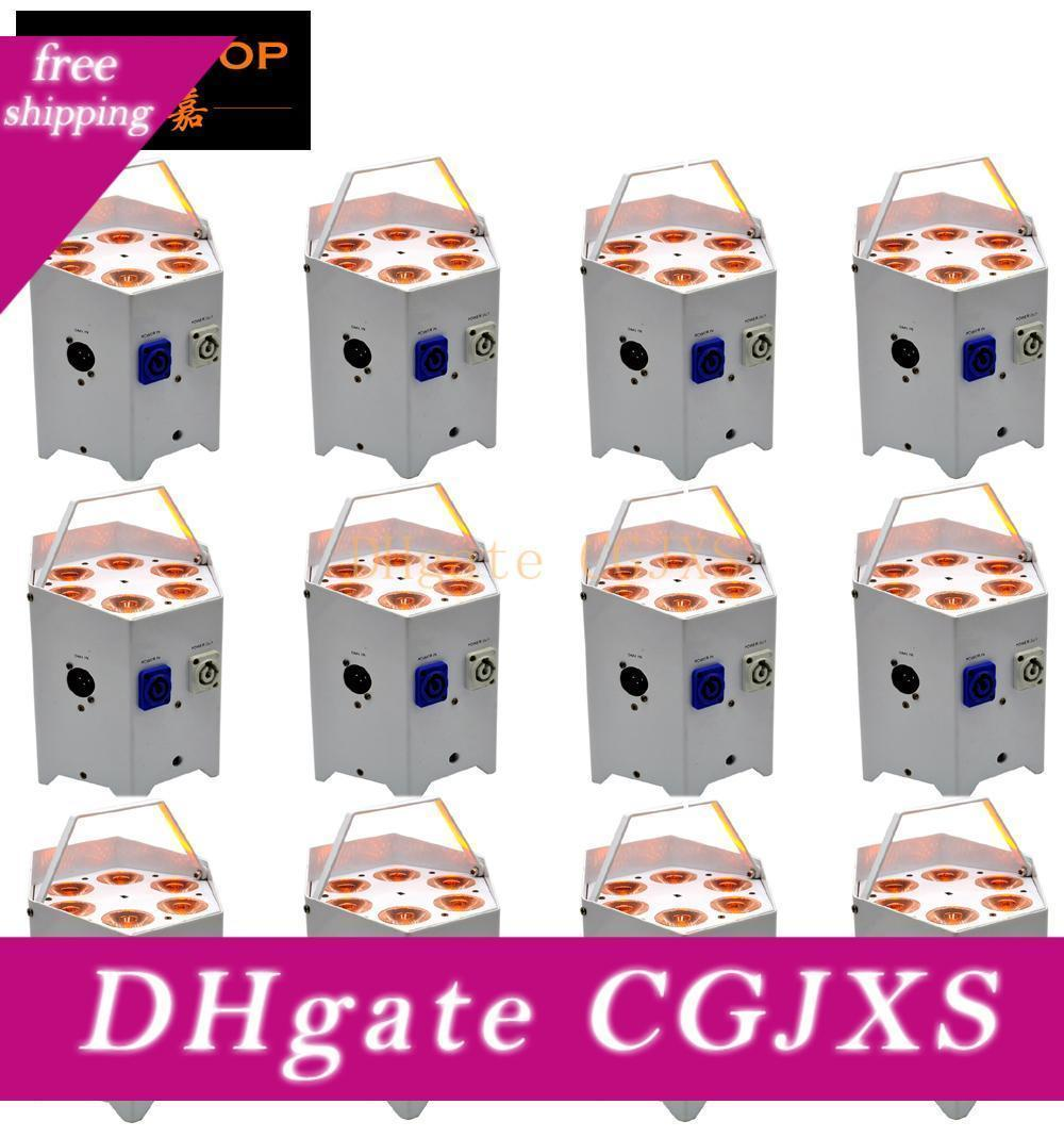 Tiptop 12 unités de batterie sans fil Powered LED Par 5in1 RGBAW Projecteur