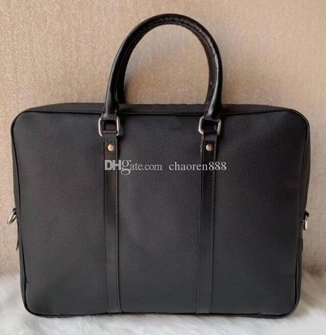 Hommes d'affaires Porte-documents Sac en cuir PU de luxe de sac d'ordinateur portable Bureau de grande capacité Porte-documents pour hommes Sacs à bandoulière