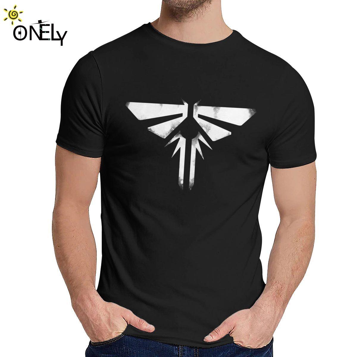 Girocollo The Last of Us Fireflies Logo corta Graphic manicotto della stampa della camicia unisex soft slim La Camiseta T